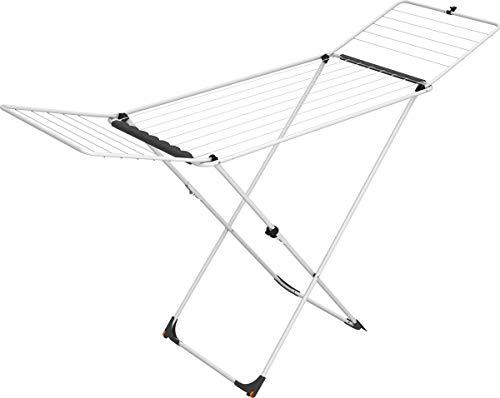 Vileda Universal Tendedero X-legs de acero con alas plegables, 18 metros de espacio de tendido, compacto y fácil de guardar, dimensiones abierto 180x55x93 cm, color blanco