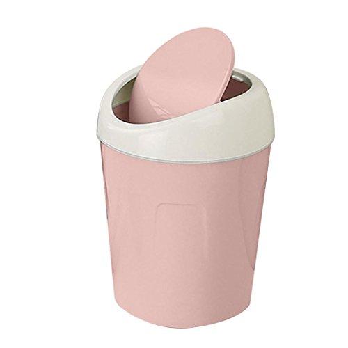sunnymi Desktops Schütteln Mülleimer/Trompete Mini Kreativ Umweltfreundlich/Küche Wohnzimmer (rosa)