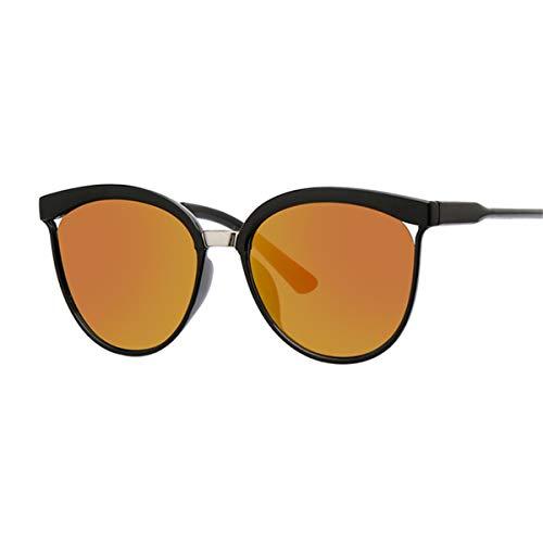 DYFDHA Sonnenbrillen Sexy Black Cat Eye Sunglasses Women Shades Famous Brand Luxury New Designer Trendy Sun Glasses Female Small White Points UV400 Red