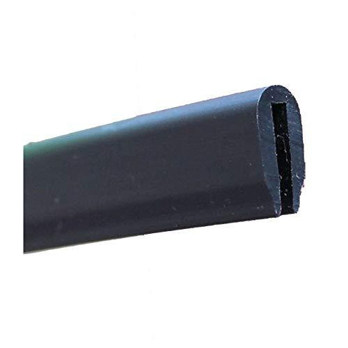 EUTRAS Kantenschutz KSO4005 Kabelschutz Schutzleiste - Spaltmaß 1,3 mm - schwarz - 5 m