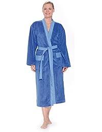 WEWO Fashion - Damen Bademantel / Kimono # 4050 ohne Kapuze - mit neuer Multifaser