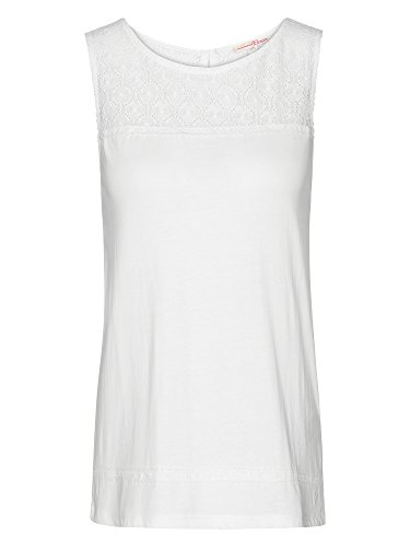 TOM TAILOR Femmes Top Blanc