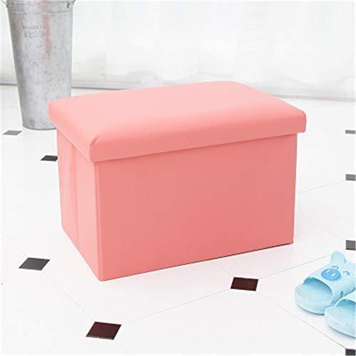 Lagerung lagerung hocker kinderspielzeug aufbewahrungsbox ändern schuhbank rosa 45 * 30 * 30 cm ()