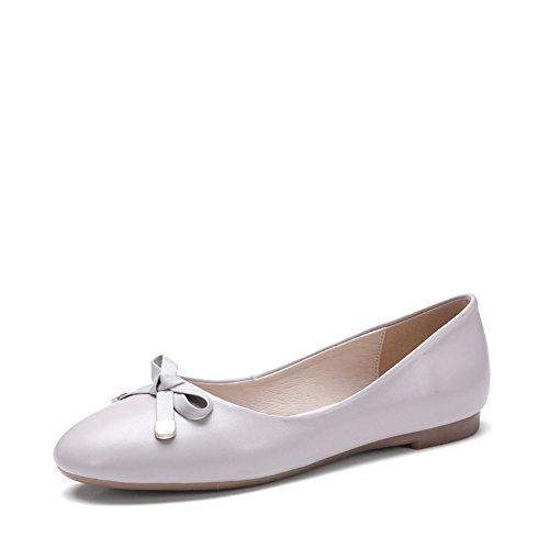 Superficiale moda primavera-estate scarpe da donna/fiocco di Joker punta rotonda/scarpe fondo piatto professionale A