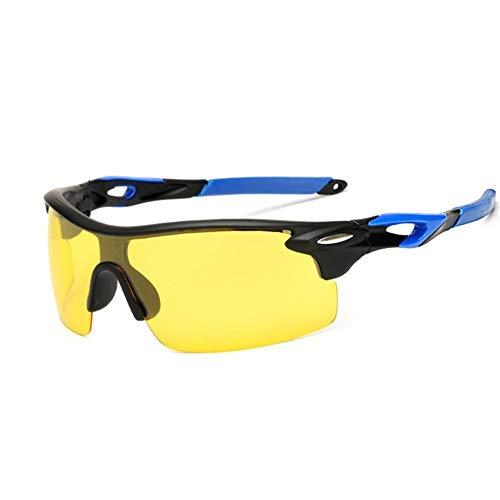 MMSY Fahrrad Polarisierte Radfahren Sonnenbrille Mountain Road MTB Bike Brille Reitbrille Randlose Half Frame Sportbrillen (Color : C05 BlackNightVision)
