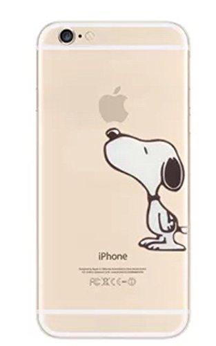 Phone Kandy® Claro transparente Caso de Shell duro de la piel y la pantalla del protector para el iPhone de la historieta carcasa funda (iPhone X, Snoopy)