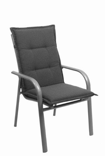 GO-DE 2956-25 Sesselauflage, mittel, circa 110 x 50 x 8 cm, grau mit Schriftzug und Stempel