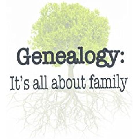 3dRose FL _ 157438_ 1genealogía todo es acerca de Familia, familia árbol familiares, de bandera de jardín, 12por 18pulgadas
