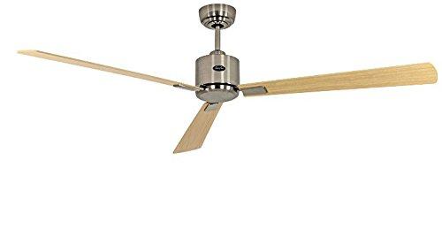 Energiespar Deckenventilator Eco Neo II 152 cm Chrom gebürstet Flügel Ahorn / Buche - Ahorn Gebürstet Deckenventilator