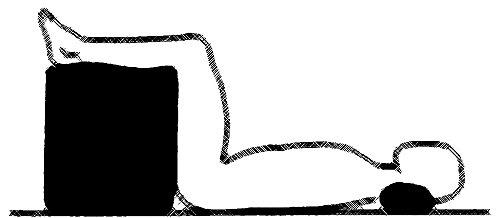 Bandscheibenwürfel zur orthopädischen Stufenlagerung, als Positurkissen aus Schaumstoff 50x45x35 cm