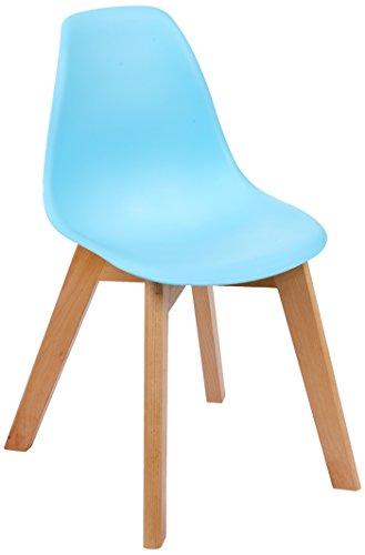 The Home Deco Factory Stuhl skandinavischen für Kinder Holz, Holz, blau, 35x37x57,50 cm