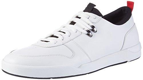 HUGO Herren Fusion_Tenn_ltnp 10199075 01 Sneaker, Weiß (White), 43 EU (Fusion Männer Schuhe)