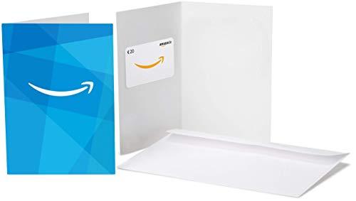 Amazon.de Geschenkkarte in Grußkarte - 20 EUR (Amazon Blau)