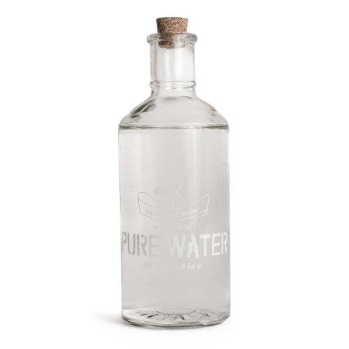 'Pure Water' decoración de la boda de la vendimia Botella de cristal