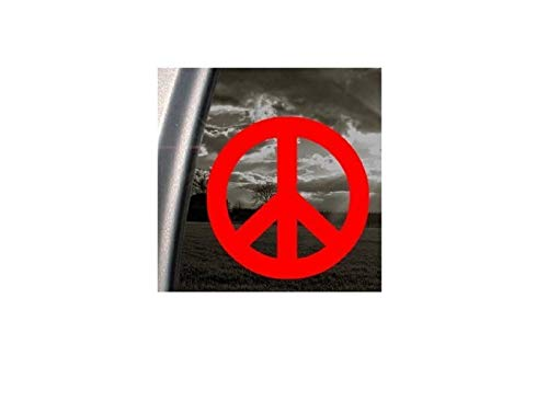 Peace Zeichen rot Aufkleber Symbol Auto Truck Window Sticker, rot