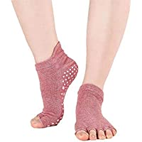 Euro 34-39 1 Paar Bandage Tanzen Ballett Yoga Socken Öffnen Fünf Zehen Baumwoll