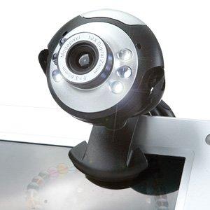 TechnoTec Webcam USB 20Megapixel 6LED 20Megapixel Webcam Kamera Web Cam, integriertes Mikrofon Mic für PC Laptop Vista Windows 7Windows & Mac-Skype, MSN, Yahoo, iChat