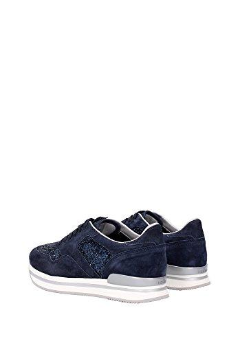 HXW2220N623BX9U810 Hogan Sneakers Femme Chamois Bleu Bleu