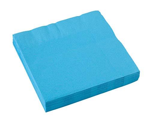 amscan Servilletas Azul caribeño Grandes, Papel