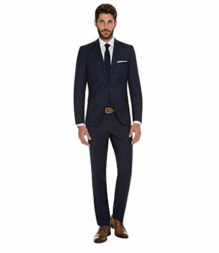 Michaelax-Fashion-Trade - Costume - Uni - Manches Longues - Homme Bleu - Deep ocean blue
