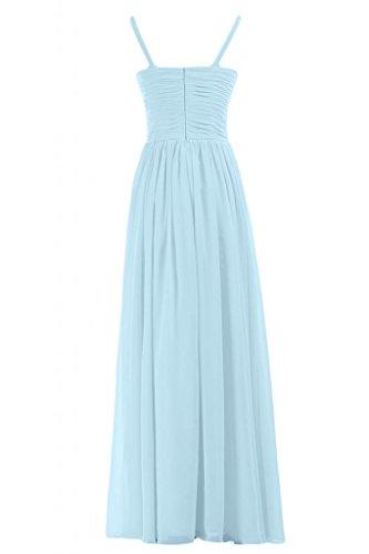 Sunvary Graceful lunghe da donna con scollo a V abito da sera Gowns-Costume da damigella d'onore per feste Light Sky Blue