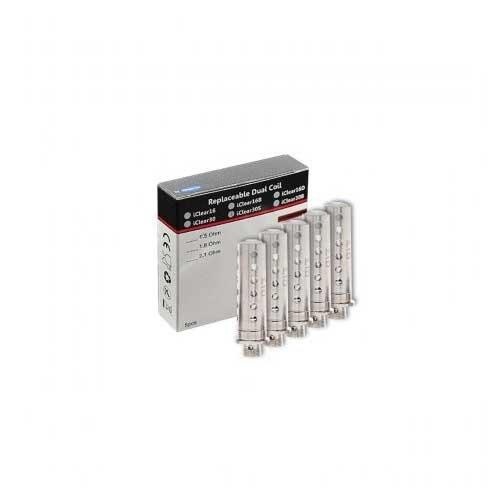 5er Pack Ersatzverdampferkopf Dual Coil iClear16S Innokin, E-Zigarette, iClear16S (1.8 Ohm) iClear 16S