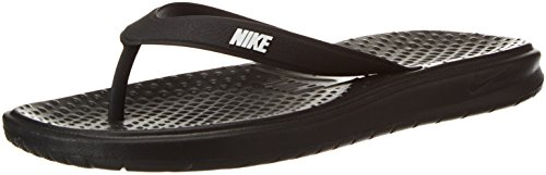 Nike Solay Thong, Chaussures de Plage et Piscine Homme Noir (Blackwhiteblack 005)