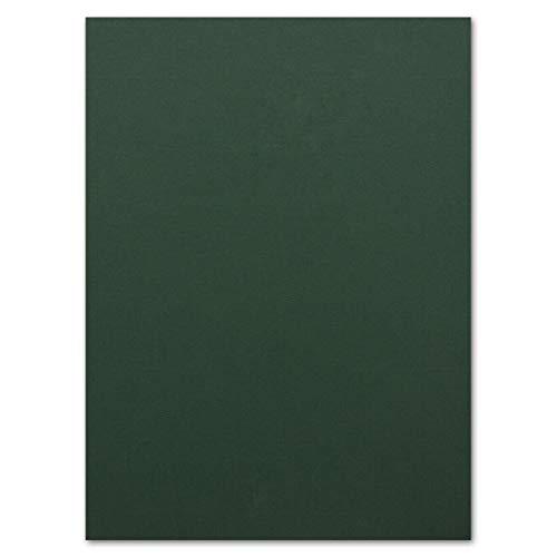 50 Blatt Ton-Karton DIN A4 - Farbe: Dunkelgrün -Ton-Papier 160 g/m² Gerippte Oberfläche - Ton-Zeichen-Papier Bastel-Papier Bastel-Karton - Glüxx-Agent