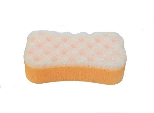 * Badeschwamm Schwamm Massageschwamm aus mehreren farben wählbar (orange)