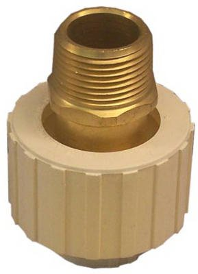 Genova Produkte 530501z 3/10,2cm CPVC X 3/10,2cm MIP Adapter (Slip Cpvc)