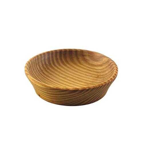 BESTONZON 1 pz piatti di salsa in legno piatto antipasto durevole piatto di condimento ciotola di salsa uso del ristorante a casa a buffet
