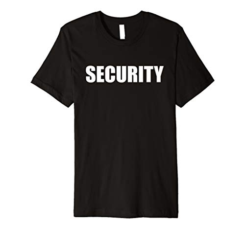 Funny Sicherheit Guard Halloween Event Staff Kostüm Shirt