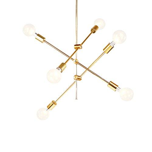 $illuminazione lampadario moderno illuminazione lampadario a sospensione a 6 luci con finitura nera e oro luci interne