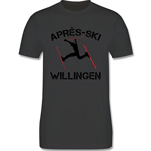 Après Ski - Apres Ski Willingen - Herren Premium T-Shirt Dunkelgrau