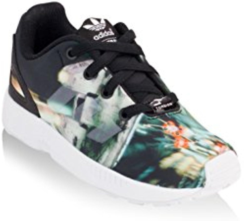 promo code d76d2 913c9 ... Leopard Print Zx Flux Trainers Multicolour (Womens) V73y6227 -. adidas  - ZX Flux Millennium Black Falcon EL Shoes - Core Black Millennium - 5.5K  6b84f6