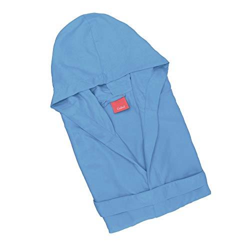 Giosal accappatoio gabel microfibra adulto slim unisex uomo donna tinta unita vari colori blu chiaro-s