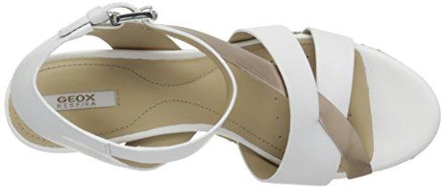 Geox Damen D Soleil C Sandalen Weiß - Blanc (C1Zh8)