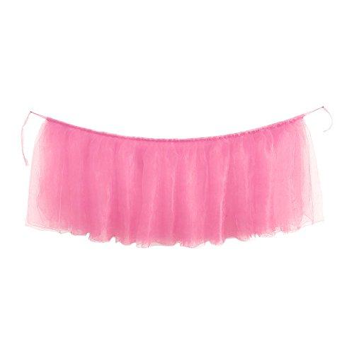 YA-Uzeun - 1 falda de mesa para cumpleaños, bodas, fiestas, decoración de mesa, rosa