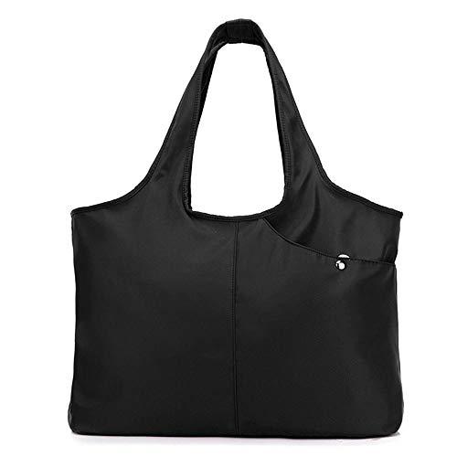 KOBWA Damen Fashion Tote Bag Large Tote Shoulder Handbag Wasserdicht Tote Bag Multifunktions Nylon Reise Schulter Schwarz -