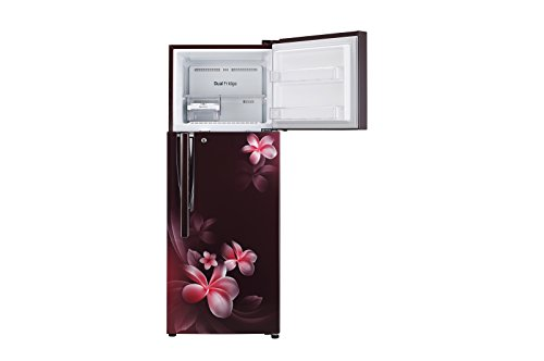 LG 308 L 4 Star Frost-free Double-Door Refrigerator (Scarlet Plumeria)