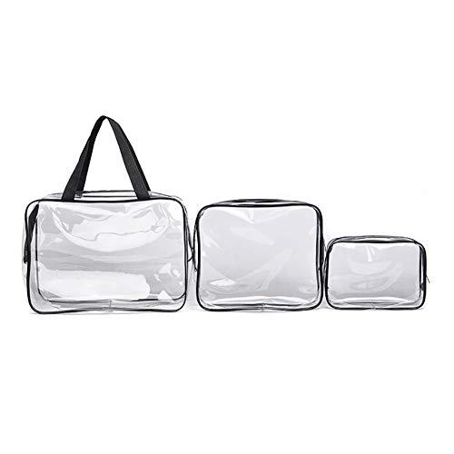 ulofpc Sac de rangement transparent de lavage de voyage transparent imperméable portatif de sac cosmétique