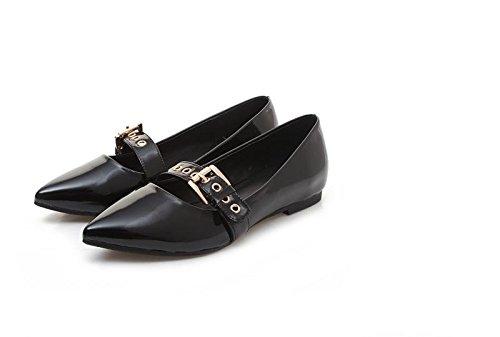 hexiajia 21.5cm-26ccm femme chaussure non-talon chaussure blanc rose Noir