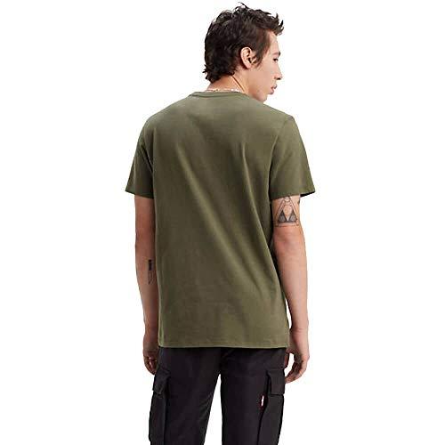 Levi\'s Herren Housemark Graphic Tee T-Shirt Grün (Hm Ssnl Tech Olive Night 0153) Small (Herstellergröße: S)