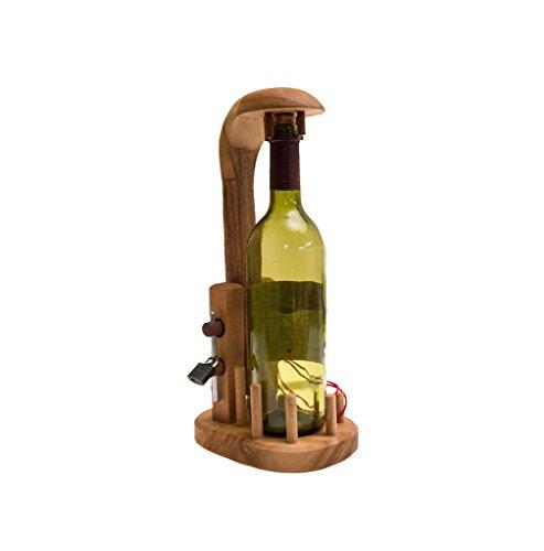 ROMBOL Bottle in a Jail - Ein knifflige Verpackung für Weinflaschen, Geduldspiel, Denkspiel,...