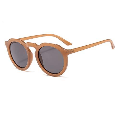 ZHENCHENYZ Jelly Color Sonnenbrille weibliche koreanische Version der Flut Brille rundes Gesicht Kunststoff Retro-Sonnenbrille