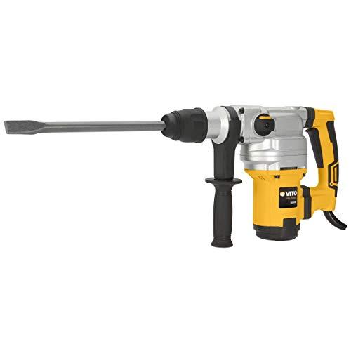 Hammer Abbruchhammer Bohrhammer Vito 1050W SDS plus- Schlagenergie, 9Joules-3Funktionen-Koffer + 7Zubehör