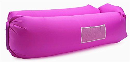 IceFox Luftsofa, Wasserdichtes Aufblasbares Air Lounger mit Tragebeutel, zum Schlafen im Freien, im Innenbereich, zum Zurücklehnen und Entspannen, Aufblasbarer Sitzsack für Camping den Strand …