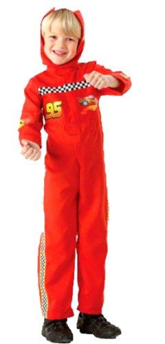 erdbeerloft - Jungen Cars Kostüm - Cars Party Lightning Mc Queen Overall, rot, 4-10 Jahre (Disney Winter Kostüme)