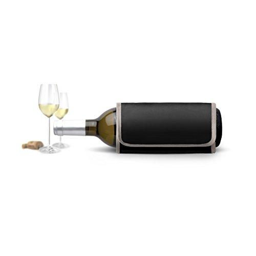 AdHoc Wein- und Sekt-Kühlmanschette Quick Cool, Schwarz, L: 35,5 cm, B: 17 cm [A]