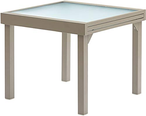 Table jardin modulo 90-180cm (taupe) (taupe)